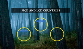 MCD AND LCD COUNTRIES