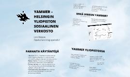 Yammer Helsingin yliopistossa