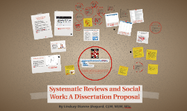 Systematic Reviews in Social Work