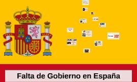 Falta de Gobierno en España