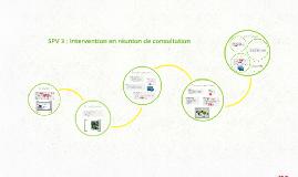 SPV 3 : Intervention en réunion de consultation