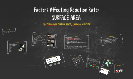 Factors Affecting Reaction Rate:
