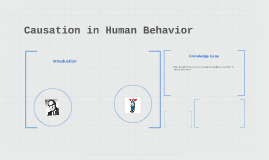 Causation in Human Behaviour