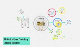 Administración de Productos y Líneas de productos