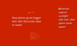 Dew plants like mountain dew or water