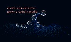 clasificacion del activo pasivo y capital contable