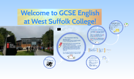 Welcome to GCSE English at West Suffolk College