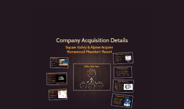 Acquisition Details