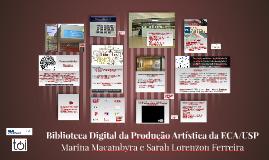 Biblioteca Digital da Produção Artística da ECA/USP
