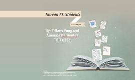Korean EL Students