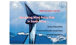 Reviewing Wind Policy Risk in South Africa
