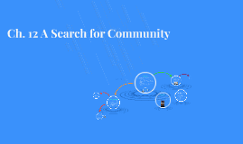 Ch. 12 A Search for Community