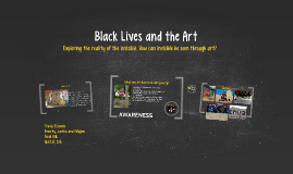 Black lives and the arts