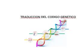 TRADUCCION DEL CODIGO GENETICO