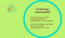 Copy of Vurdering i matematikk!