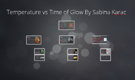 Temperature vs Time of Glow