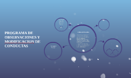 PROGRAMA DE OBSERVACIONES Y MODIFICACION DE CONDUCTAS