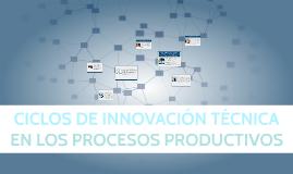 Copy of CICLOS DE INNOVACIÓN TÉCNICA EN LOS PROCESOS PRODUCTIVOS