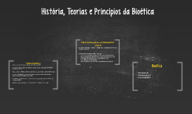 História, Teorias e Princípios da Bioética