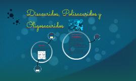 Disacaridos, Polisacaridos y Oligosacaridos
