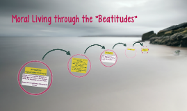 "Moral Living through the ""Beatitudes"""