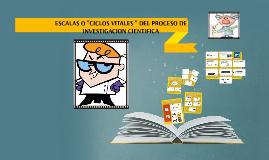 """ESCALAS O """"CICLOS VITALES """" DEL PROCESO DE INVESTIGACION CIE"""