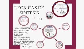 TECNICAS DE SINTESIS