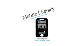 Mobile Literacy for Bahrain SLA workshop