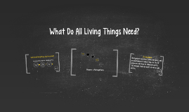 What Do All Living Things Need?