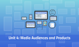 Unit 4: Media Audiences and Products