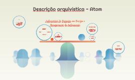 Descrição arquivística por meio do Atom