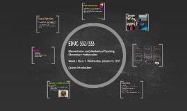 EDUC 332 Week 1