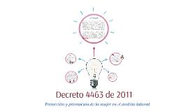 Decreto 4463 de 2011