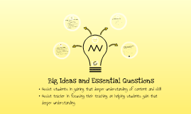 Copy of Big Idea and Essential Questions
