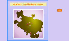 Arabako ustelkeriaren mapa