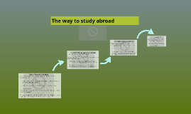 The way to study abroad