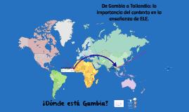 De Gambia a Tailandia: la importancia del contexto en la enseñanza de ELE