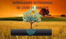 información nutricional narnja