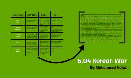 6.04 Korean War