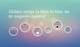 ¿Cómo surge la idea la idea de un negocio nuevo?