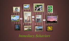 Copy of Immediacy Behaviors