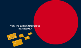 Howe we organize/express                  ourselves.