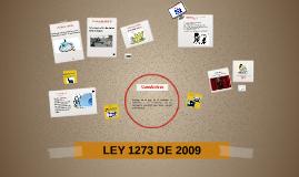 LEY 1273 DE 2009