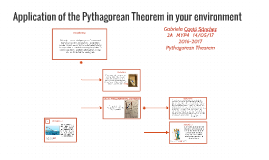 Application of the Pythagorean Theorem in your environment
