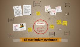 El curriculum evaluado