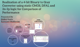 Realization of a 4-bit Binary to Gray Converter using static