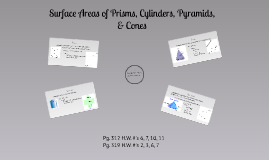 Surface Areas of Prisms, Cylinders, Pyramids, & Cones