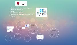 Linguistics in the era of big data