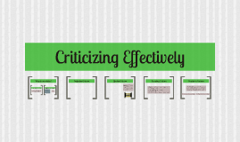 Criticize Effectively
