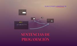 SENTENCIAS DE PROGAMACIÓN